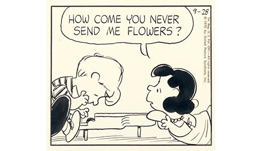 原画「ルーシーとシュローダー」1970/9/28