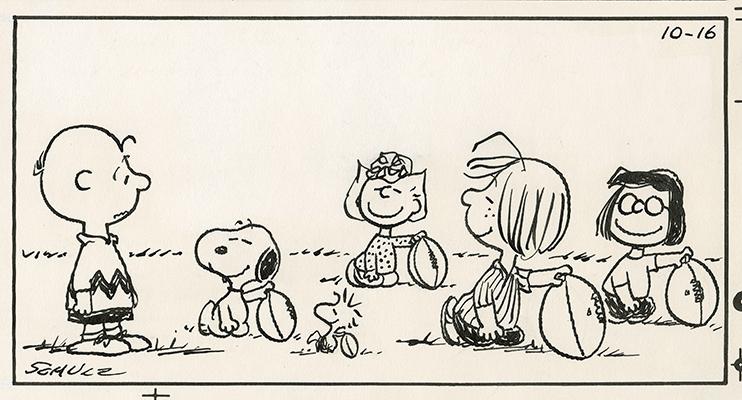 原画「ピーナッツ・ギャング大集合」1983/10/16