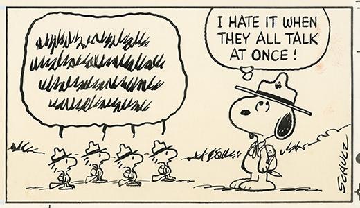 原画「謎の鳥ウッドストックと仲間たち」1982/7/25