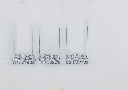 シリーズ誕生前のラフスケッチ
