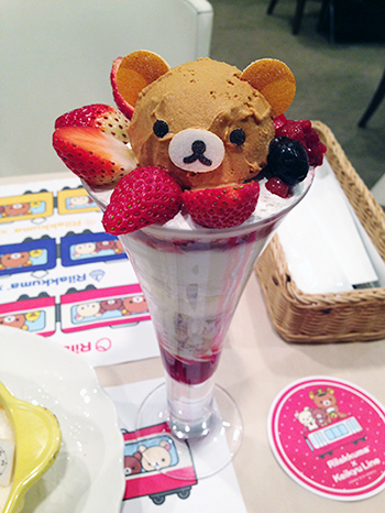 京急百貨店のリラックマコラボカフェのパフェ