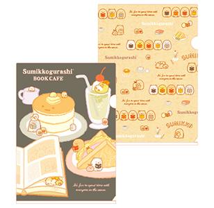 ブックカフェデザイングッズのクリアホルダーセット