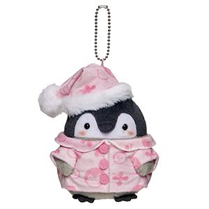 コウペンちゃん 冬毛ぷわぷわマスコット(ピンクパジャマ)