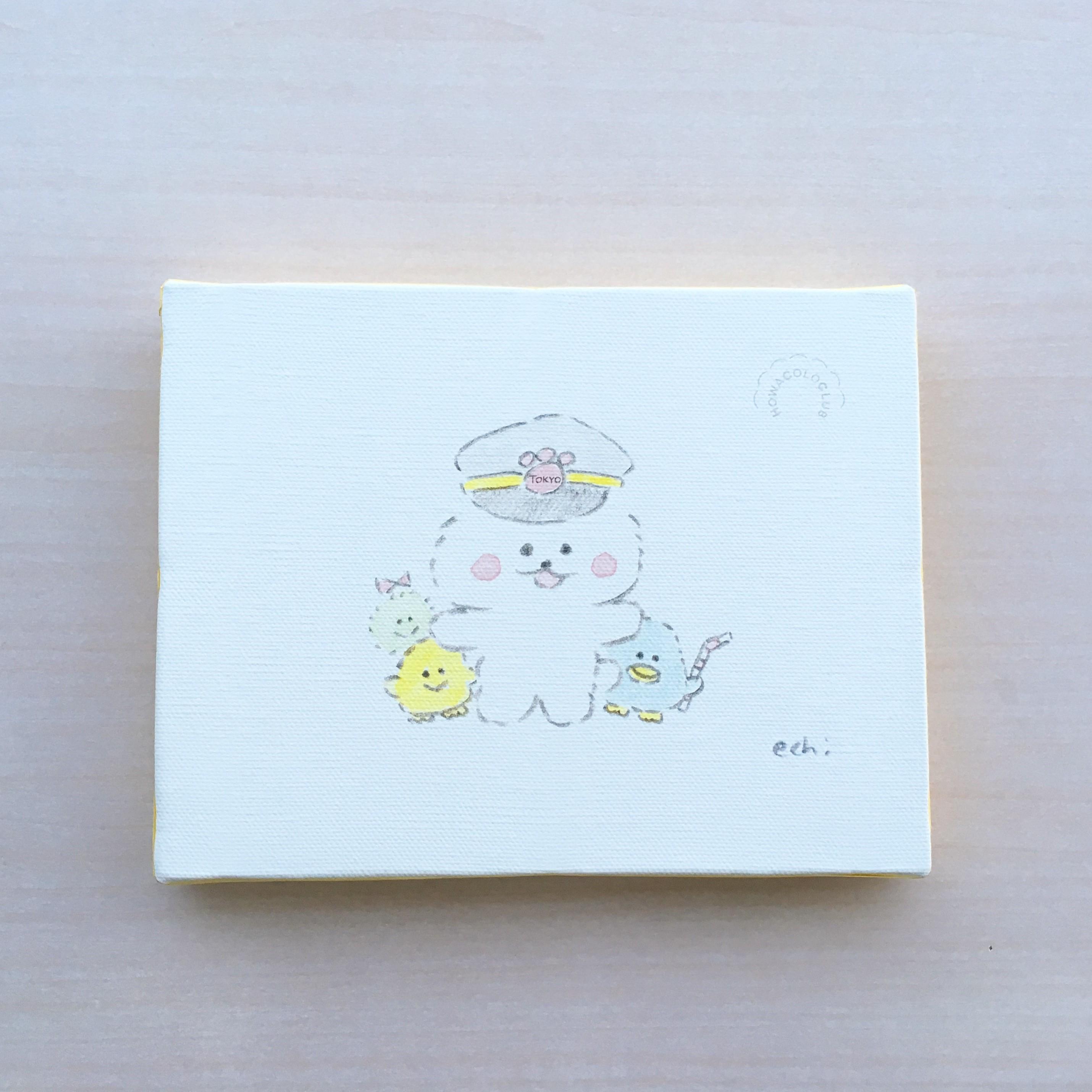 ほわころくらぶ_東京駅_キャンバスアート1
