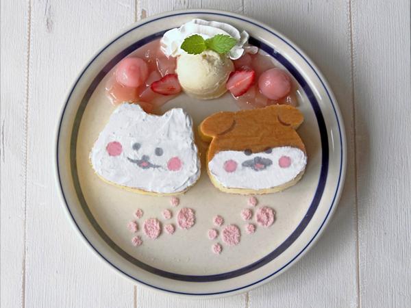 ほわころちゃんとしばころちゃんのなかよしパンケーキ
