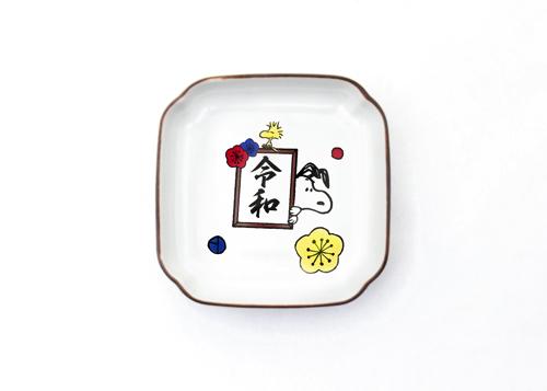 スヌーピーin銀座_KUTANI SEAL角小皿