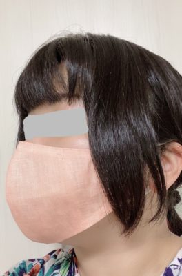 ヘンプマスク(茜染め)