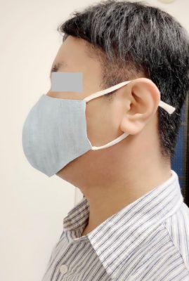 ヘンプマスク(クチナシブルー)